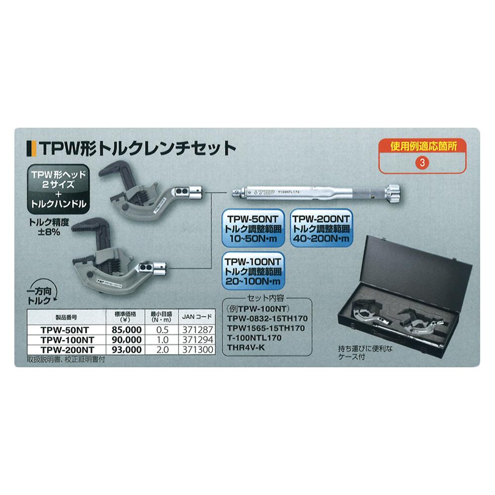 トップ工業(TOP) TPW形トルクレンチセット TPW-200NT