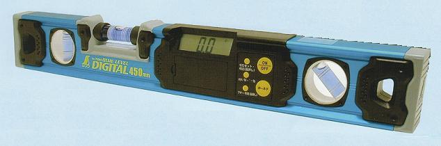 シンワ測定 ブルーレベルデジタル マグネット付 450mm 76349