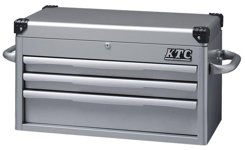 【直送】【代引不可】KTC(京都機械工具) トップチェスト(シルバー) EKR-1003