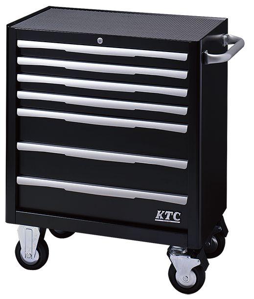 【直送】【代引不可】KTC(京都機械工具) ローラーキャビネット(7段7引出し) ブラック EKW-1007BK