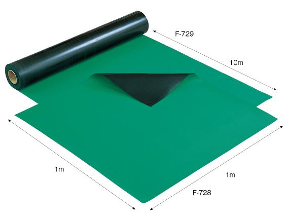 【直送】【代引不可】ホーザン(HOZAN) 導電性カラーマット(グリーン) F-729