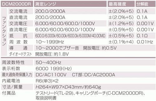 DC/AC两用数码扣子测量仪器DCM2000DR SANWA(三和)