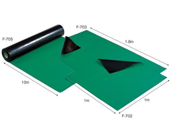 【直送】【代引不可】ホーザン(HOZAN) 導電性カラーマット(グリーン) F-705