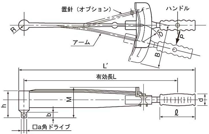 板型转矩扳手 F130N 东 (东日)