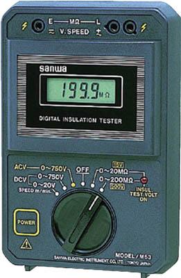ー品販売  エレベータ用 三和電気計器 店 デジタル絶縁抵抗計 M53:工具屋のプロ-DIY・工具