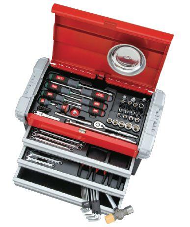 KTC(京都機械工具) 工具セット(チェストタイプ)66点組 SK3650EZ
