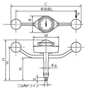 T狀號碼盤形扭矩扳手T23N-S東日(TOHNICHI)