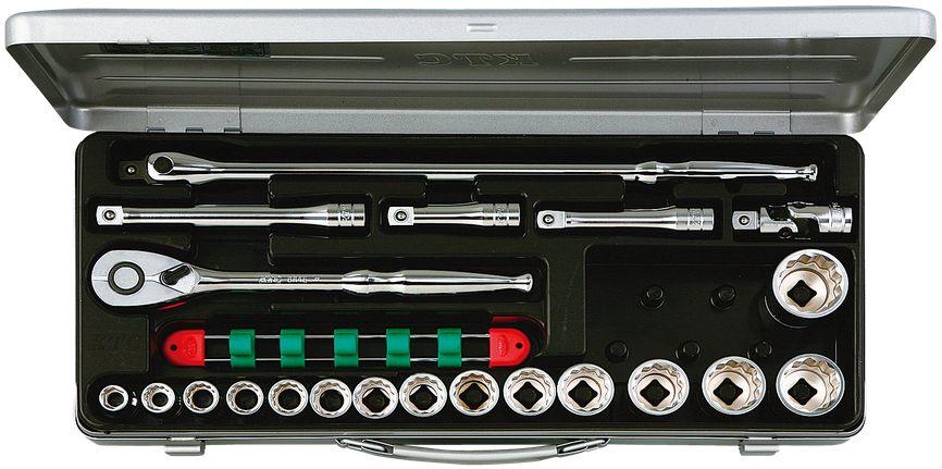 KTC(京都機械工具) 12.7sq. ソケットレンチセット 21点組 TB415BX