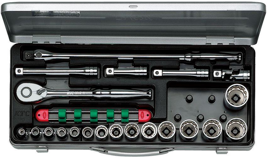 KTC(京都機械工具) 12.7sq. ソケットレンチセット 21点組 TB415X
