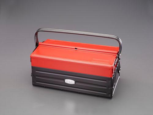 エスコ(ESCO) 410x220x200mm 工具箱(スチール製) EA504AE-2