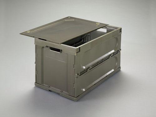 エスコ(ESCO) 764x455x458mm/131L 折畳コンテナ(OD/蓋付) EA506AA-20DS