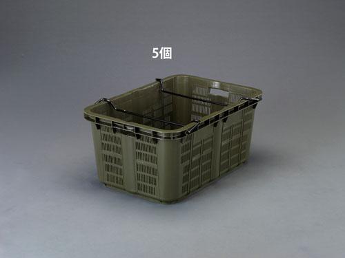 エスコ(ESCO) 808x553x370mm/119.6L コンテナ(OD/5個) EA506AB-19E