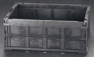 エスコ(ESCO) 650x440x249mm/54.9L ハイテク折畳コンテナ EA506AE-33A
