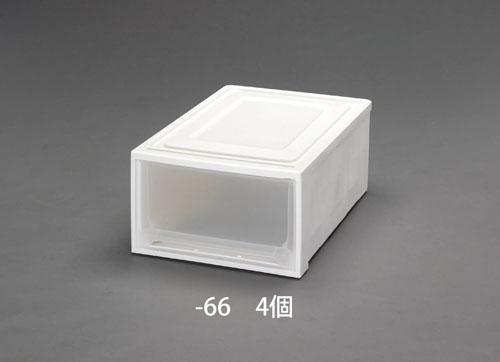 エスコ(ESCO) 390x530x230mm 引出し式収納ケース(4個) EA506L-66