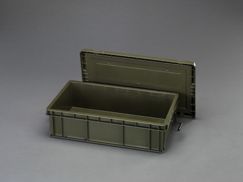 エスコ(ESCO) 819x475x234mm 道具箱(バックル付/OD色) EA506LS-13