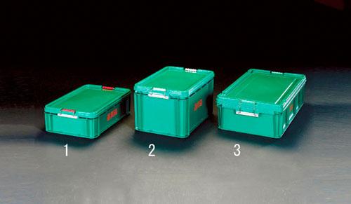 エスコ(ESCO) 819x475x234mm 道具箱(バックル付/緑) EA506LS-3