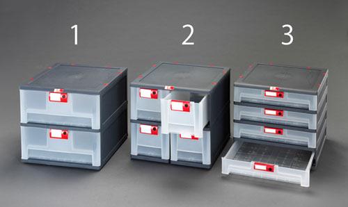 エスコ(ESCO) 450x460x420mm/2列2段 連結収納(引出し式) EA506MP-2