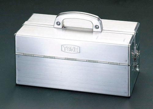 エスコ(ESCO) 435x225x240mm 工具箱(ステンレス製) EA507SA-435