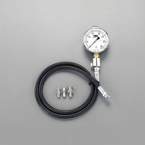 【セール期間中ポイント2~5倍!】エスコ(ESCO) 30MPa/100mm 高圧用油圧計 EA514BG-30