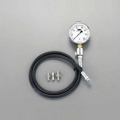 エスコ(ESCO) 70MPa/100mm 高圧用油圧計 EA514BG-75
