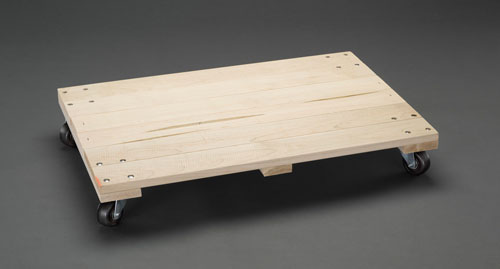 エスコ(ESCO) 914x610mm/400kg ドーリー(木製) EA520AD-23