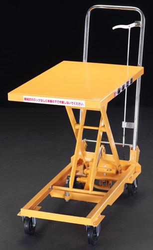 【直送】【代引不可】エスコ(ESCO) 450x700mm/150kg テーブルリフト EA520X-1