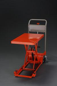 【直送】【代引不可】エスコ(ESCO) 400x720mm/100kg テーブルリフト(低床式) EA520XA-41A