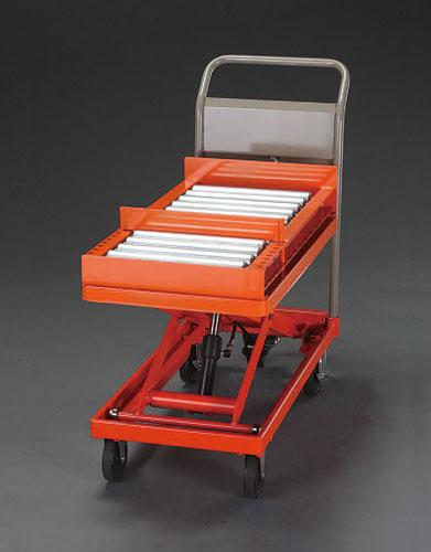 【直送】【代引不可】エスコ(ESCO) 400x720mm/130kg テーブルリフト(ローラーコンベアー付) EA520XB-0