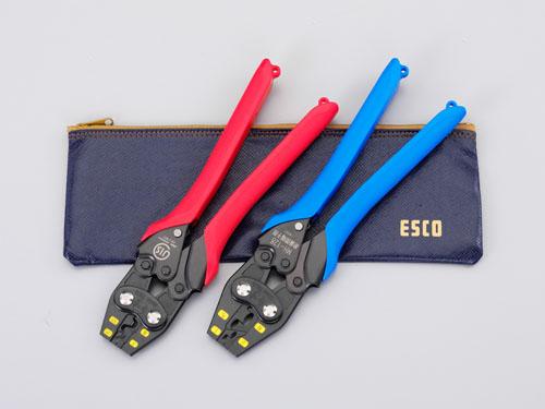 エスコ(ESCO) 圧着ペンチセット EA538J-2