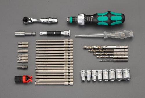 エスコ(ESCO) 41本組 ツールセット(木工用) EA562WK-2
