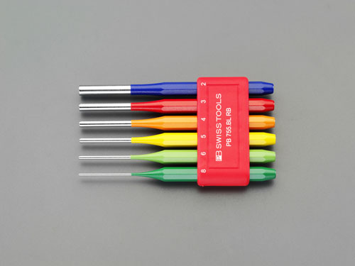 エスコ(ESCO) 2.0-8.0mm/6本組 平行ピンポンチ EA572AE