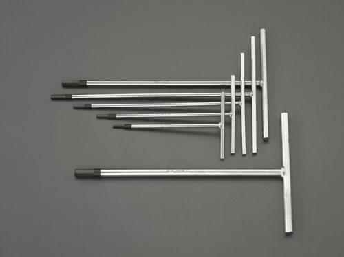 エスコ(ESCO) 3.0-10mm/6本組 [Hexagon]T型レンチ EA573BW