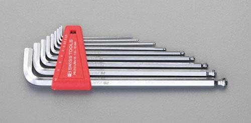 エスコ(ESCO) 1.5-10mm/9本組 [Hexagon]キーレンチ(ホールド付) EA573CH