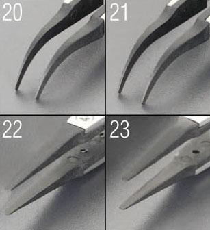 エスコ(ESCO) 120mm 精密用ピンセット(ステンレス製 ESD) EA595AR-23
