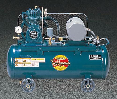 エスコ(ESCO) AC100V/750W/50Hz エアーコンプレッサー(タンク 57L) EA116FA-50