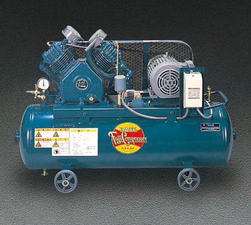 エスコ(ESCO) AC200V/2.2KW/60Hz エアーコンプレッサー(タンク 99L) EA116FB-60A