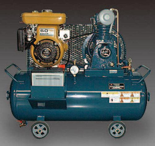 エスコ(ESCO) 1.5KW エアーコンプレッサー(エンジン付・タンク 83L) EA116FF-4