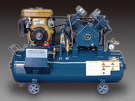 エスコ(ESCO) 2.2KW エアーコンプレッサー(エンジン付・タンク 99L) EA116FF-5