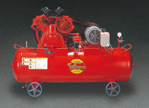 エスコ(ESCO) AC200V/3.7KW/60Hz 高圧エアーコンプレッサー EA116GC-60A