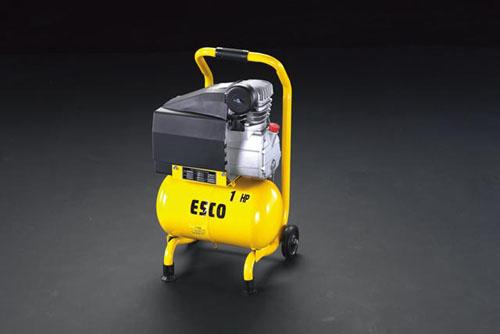 【直送】【代引不可】エスコ(ESCO) AC100V/750W エアーコンプレッサー(タンク 10L) EA116SB