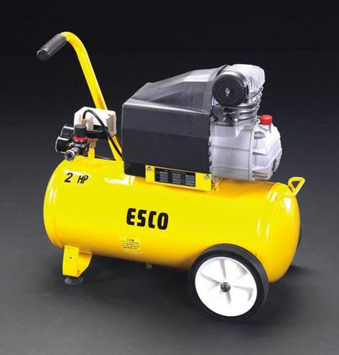 【直送】【代引不可】エスコ(ESCO) AC100V/1.50KW エアーコンプレッサー(タンク 38L) EA116SE