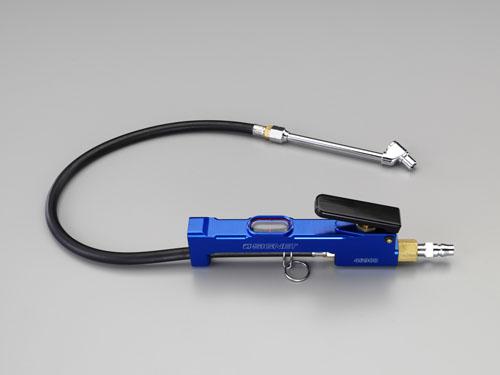 エスコ(ESCO) 100-1100kPa タイヤゲージ&チャック(増減圧機能付) EA123CG-30