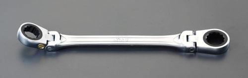 エスコ(ESCO) 22x24mm/325mm ラチェットめがね(首振り型) EA602CF-20