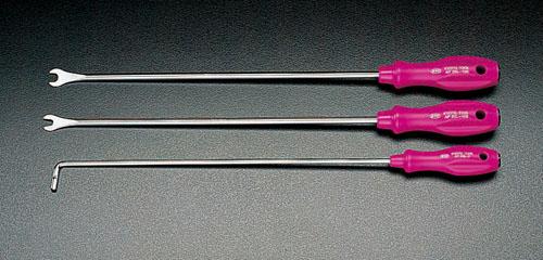 エスコ(ESCO) 3本組 ロングクリップツール(ストレート) EA604CD