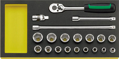 本物の 3/8sq ソケットレンチセット エスコ(ESCO) EA612TA-17:工具屋のプロ 店-DIY・工具