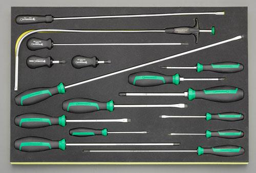 【おまけ付】 エスコ(ESCO) ドライバーセット EA612TC-4:工具屋のプロ 店 16本組-DIY・工具