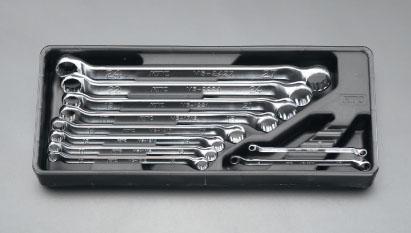 エスコ(ESCO) 10本組/5.5-27mm 両口めがねレンチ EA616BD-2