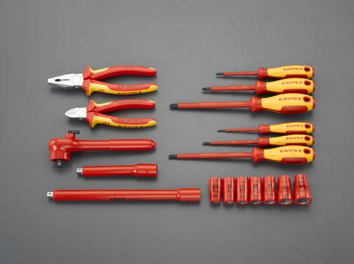 エスコ(ESCO) [18個組] 絶縁工具セット EA640XC-21