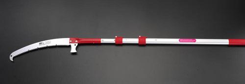エスコ(ESCO) 2.3-5.1m 高枝鋸(伸縮柄・370mm鋸刃) EA650AX-120