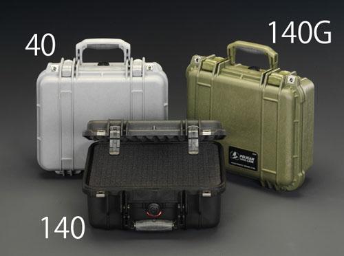 エスコ(ESCO) 300x225x132mm/内寸 万能防水ケース(黒) EA657-140